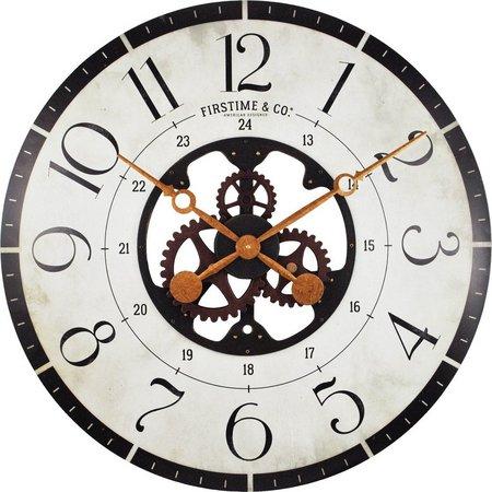 FirsTime 27'' Carlisle Gears Wall Clock