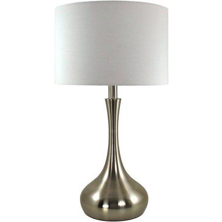 FirsTime Kade Nickel Teardrop Lamp