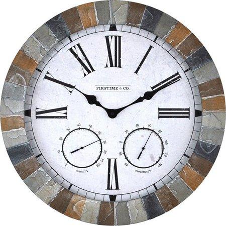 FirsTime 18'' Garden Stone Outdoor Clock