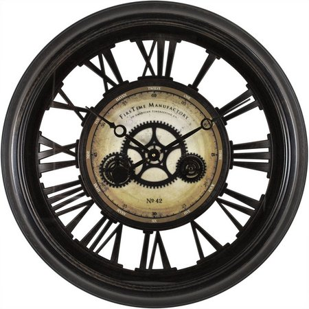 FirsTime 24'' Gear Works Wall Clock