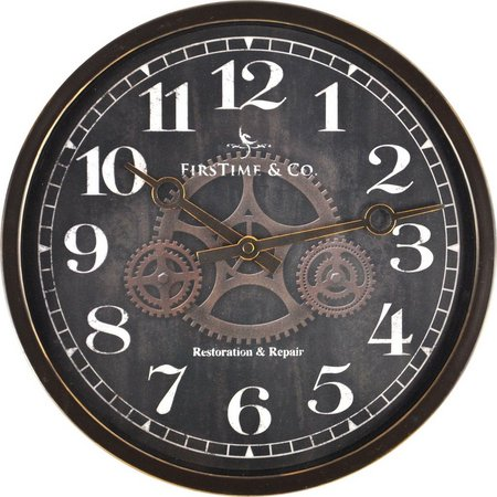 FirsTime 12'' Industrial Gears Wall Clock