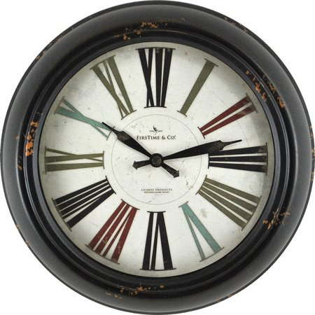 FirsTime 10'' Relic Black Wall Clock