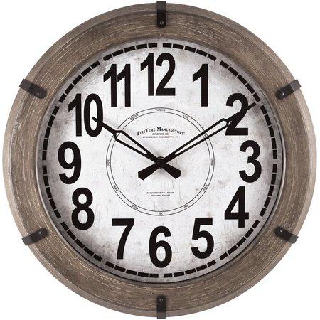 FirsTime 14'' Modern Rustic Wall Clock