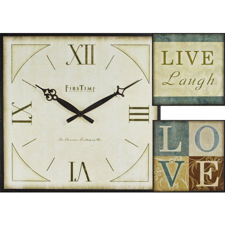 FirsTime 3-pc. Love Gallery Wall Clock Set