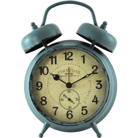 FirsTime Teal Double Bell Alarm Clock