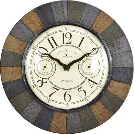 FirsTime 15.5'' Slate Garden Wall Clock