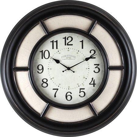 FirsTime 23'' Baxton Linen Wall Clock