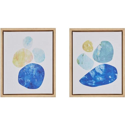Ink + Ivy Stacked Blue Circles 2-pc. Framed Canvas Wall Art | Bealls ...