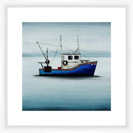 PTM Images Blue Tug Boat Framed Wall Art