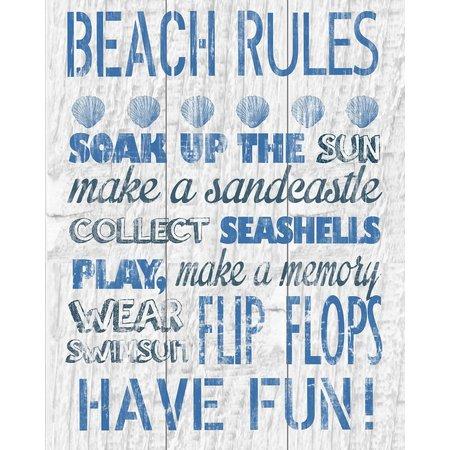PTM Images Blue Beach Rules Canvas Art