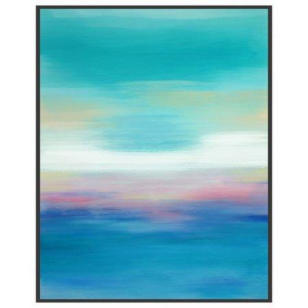PTM Images Blue Ocean View Framed Wall Art