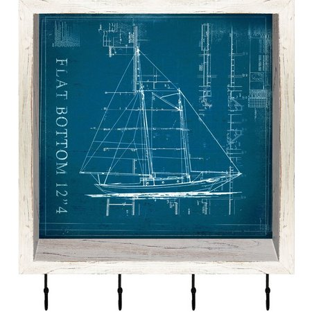 PTM Images Flat Bottom Boat Shadowbox With Hooks