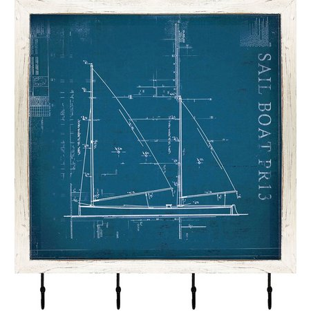 PTM Images Sailboat Shadowbox With Hooks