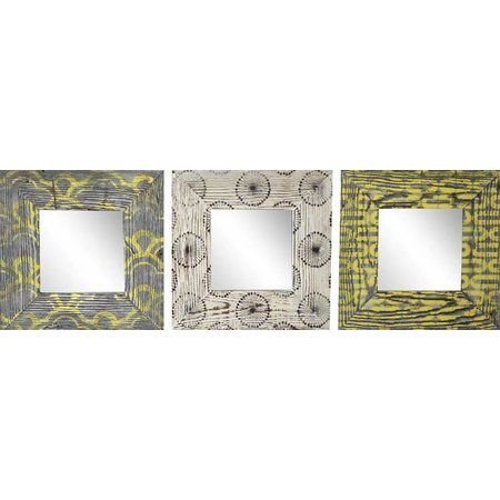 PTM Images Yellow & Gray Pattern 3-pc. Mirror