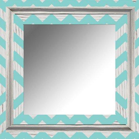 PTM Images White Wash Chevron Mirror