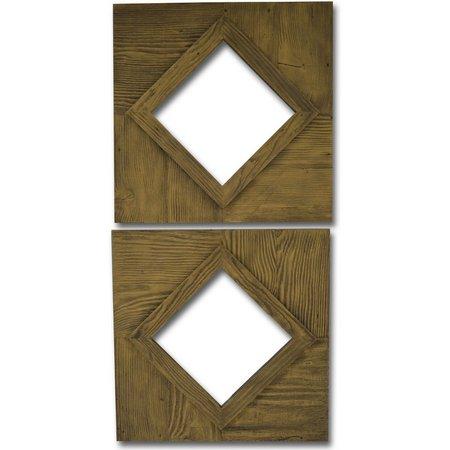 PTM Images Diamond Cut Out 2-pc. Mirror Set