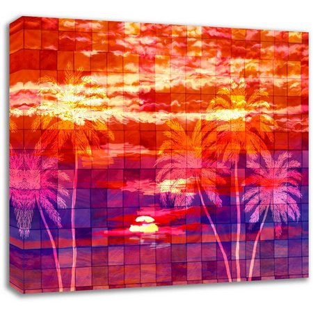 PTM Images 40'' Mosaic Sunrise Canvas Wall Art