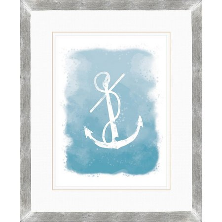 PTM Images Nautical Anchor Watercolor Wall Art