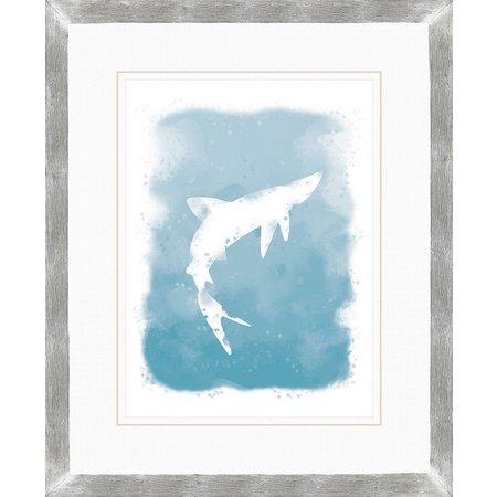 PTM Images Nautical Shark Watercolor Wall Art