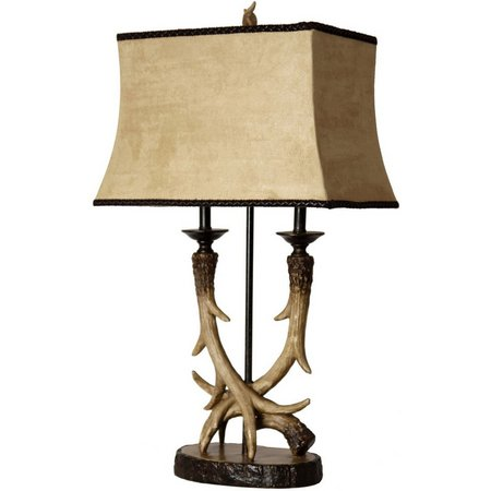 StyleCraft Deer Valley Twinlight Table Lamp