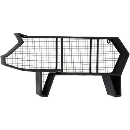 StyleCraft Metal & Mesh Pig Wall Shelf