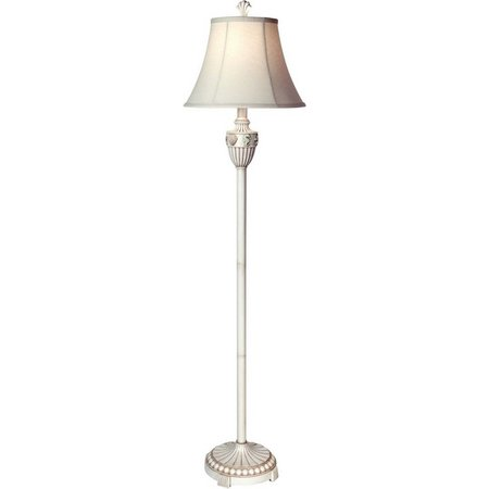 StyleCraft Cream Seashell Floor Lamp