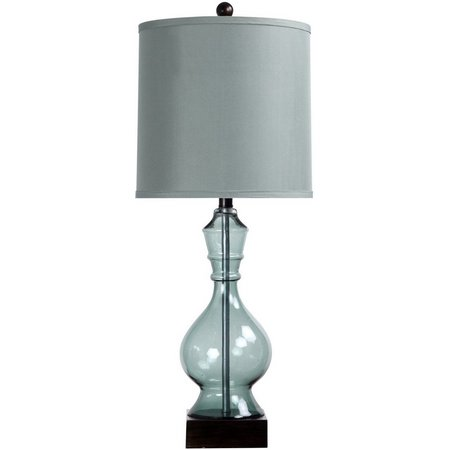 StyleCraft Glass Drum Table Lamp