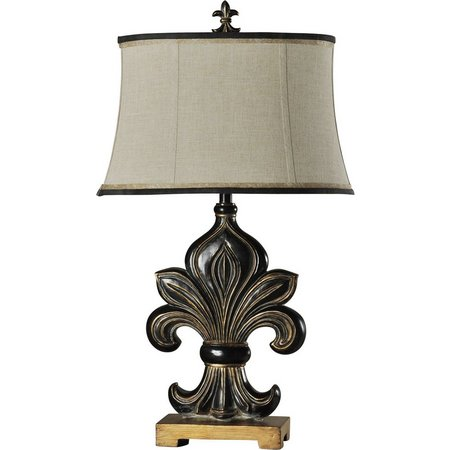 StyleCraft Fleur De Lis Motif Table Lamp