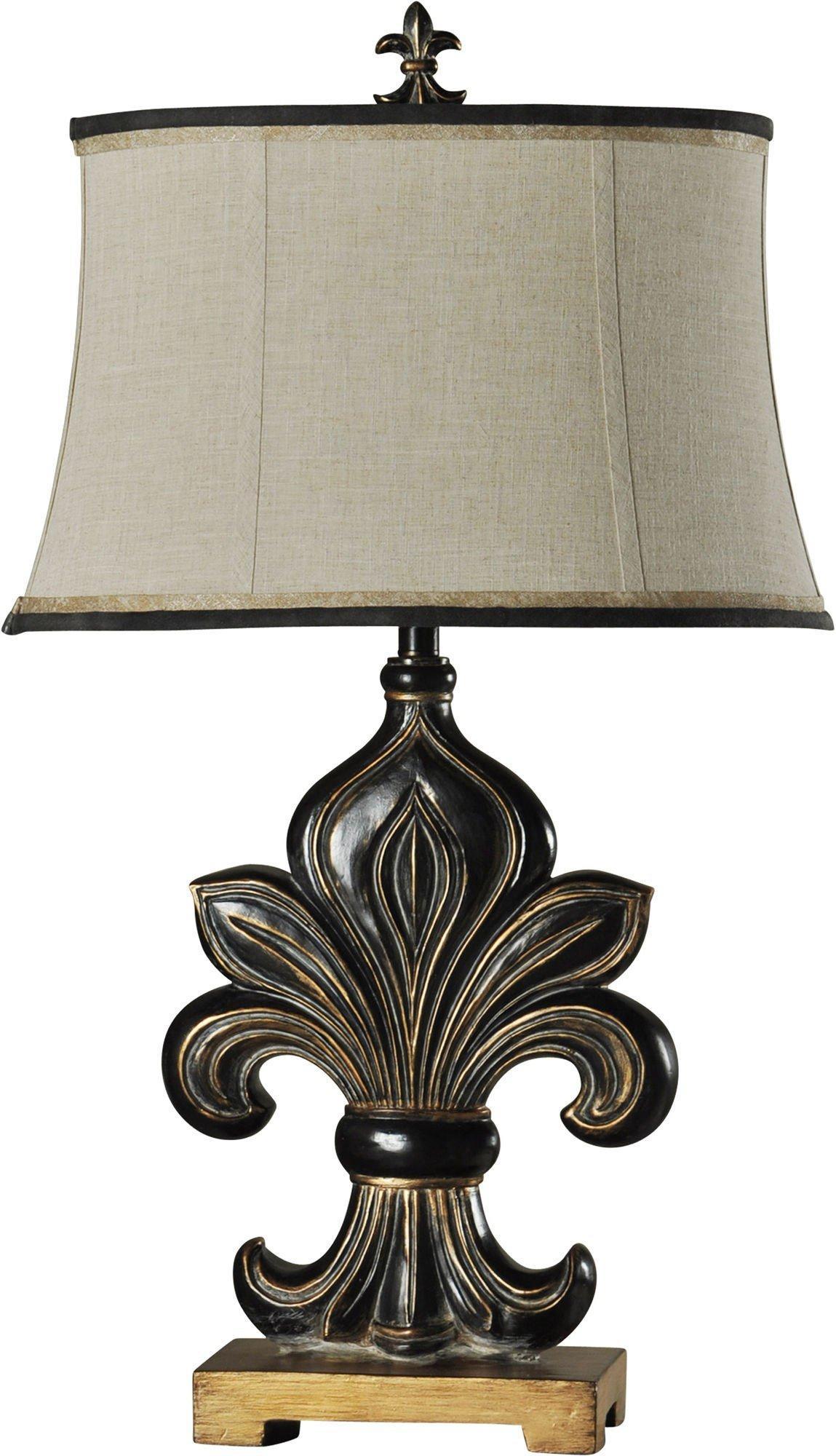 StyleCraft Fleur De Lis Motif Table Lamp