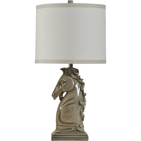 StyleCraft Ceramic Horse Head Table Lamp