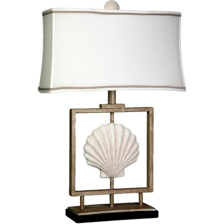 StyleCraft Sea Shell Coastal Inspired Table Lamp