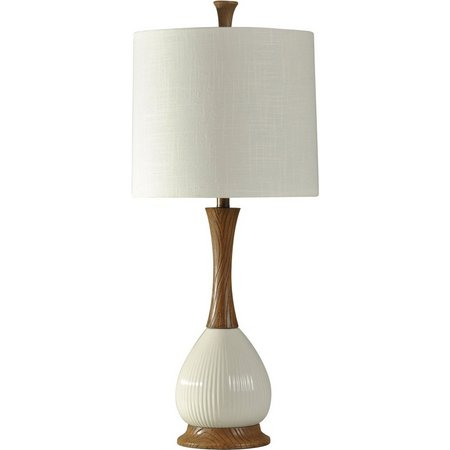 StyleCraft White Ceramic Table Lamp