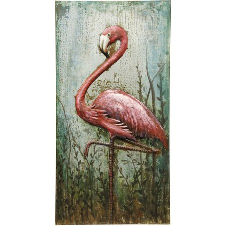 StyleCraft Metal Flamingo Wall Decor