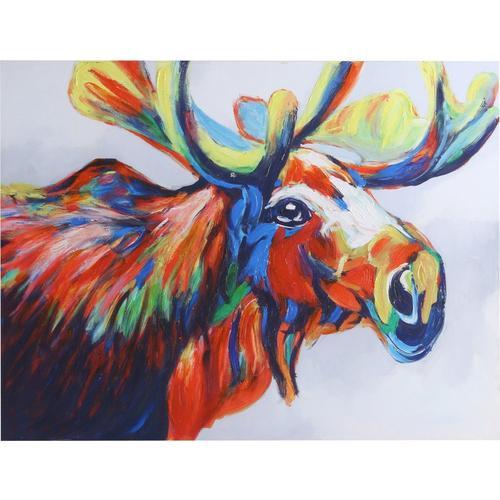 stylecraft high gloss moose canvas wall art bealls florida