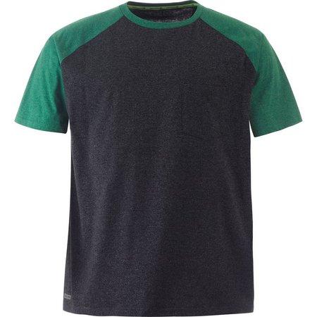 Free Country Mens Green Raglan T-Shirt