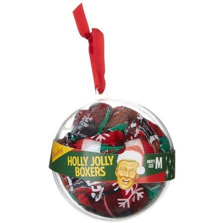 Wembley Deer & Santa Boxer Ornament