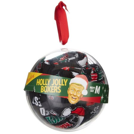 Wembley Naughty Or Nice Boxer Ornament