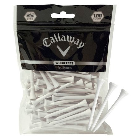 Callaway 100-pk. White Wood Golf Tees