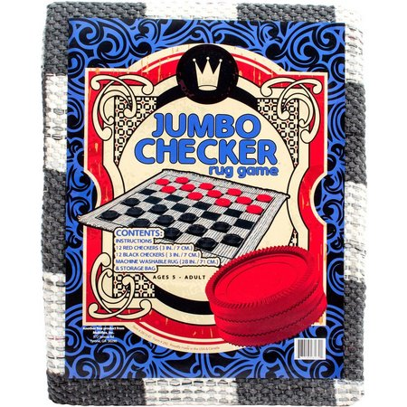 Channel Craft Jumbo Checkers Rug