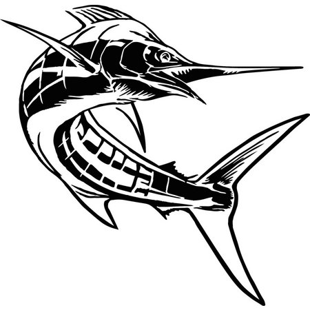 Calcutta Die Cut Swordfish Decal