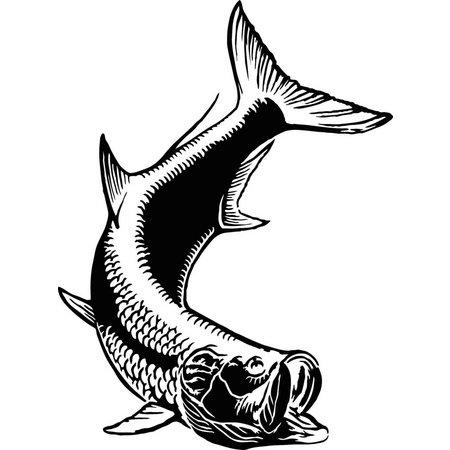 Calcutta Die Cut Fish Decal