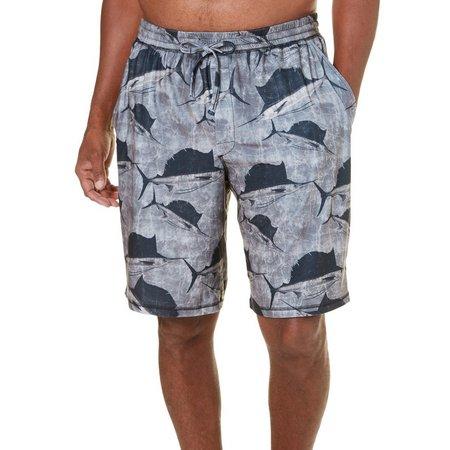 Reel Legends Mens Ocean Sailfish Pajama Shorts
