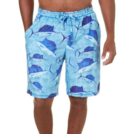 Reel Legends Mens Ocean Crackle Pajama Shorts