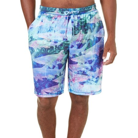Reel Legends Mens Translucent Shark Pajama Shorts