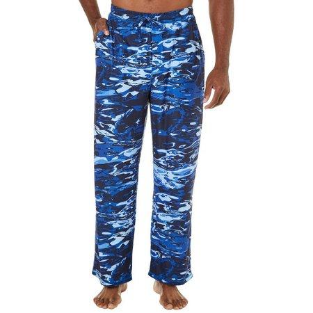 Reel Legends Mens Aqua Camo Pajama Pants