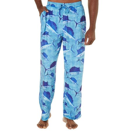 Reel Legends Mens Oceanic Crackle Pajama Pants