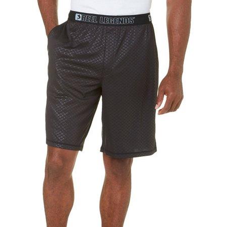 Reel Legends Mens Black Deboss Pajama Shorts