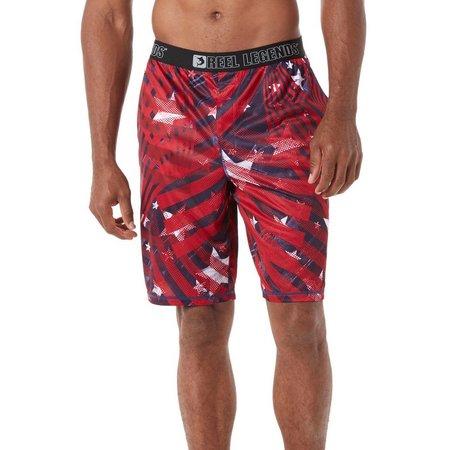 Reel Legends Mens Stars & Stripes Pajama Shorts