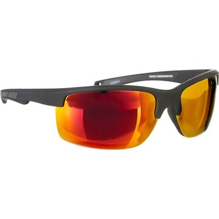 Reel Legends Mens Semi-Rimless Sport Sunglasses