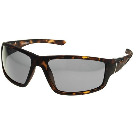 Reel Legends Mens Tortoise Wrap Sunglasses